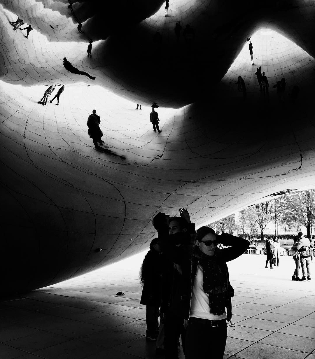 Bean sculpture, Chicago, shot on a Ricoh GR2 by Jay Sennett
