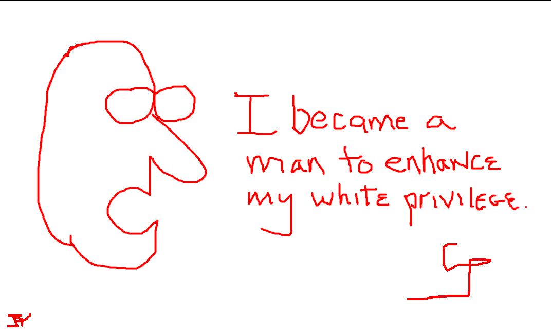 I became for the white privilege